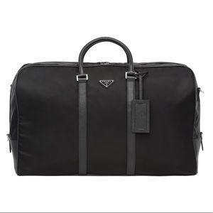 77f6e3a702a2 Prada Nylon   Saffiano Leather Duffel Bag - Unisex